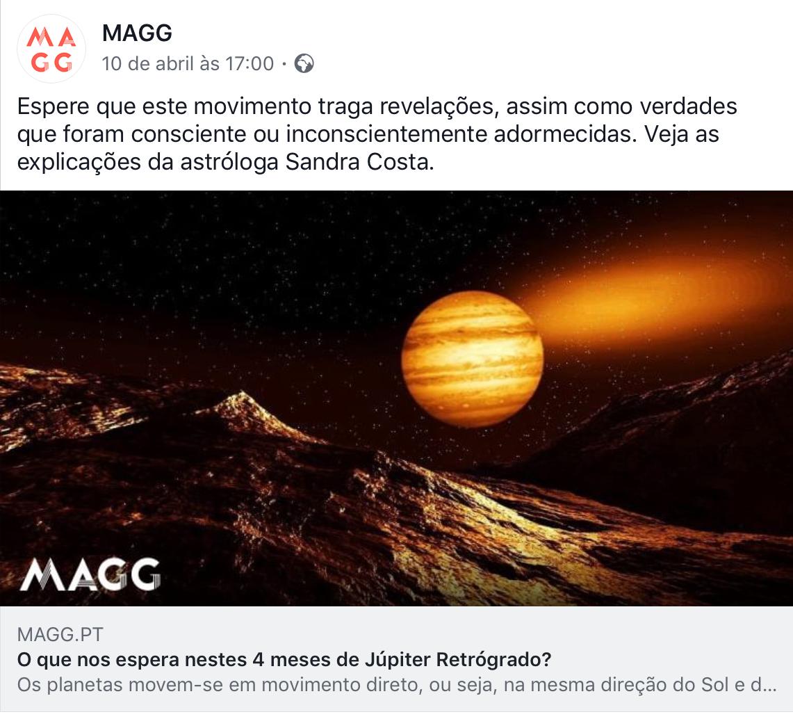 Júpiter Retrógrado em Sagitário